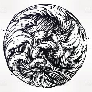 linework waves Dildo Tattoo & Piercing Studio Athens