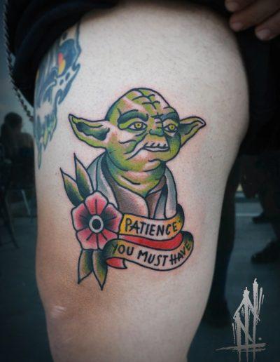 yoda star wars tattoo dildo studio Athens