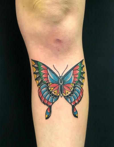 butterfly traditional color tattoo πεταλουδα αθηνα