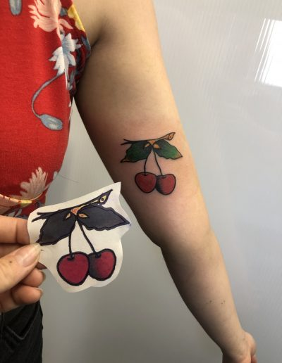 traditional cherry flash tattoo κερασια αθηνα
