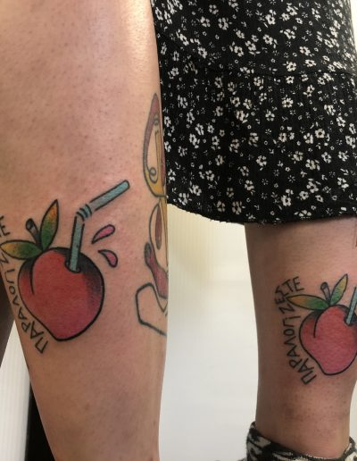 peach colour tattoo athens dildo ροδάκινο τατουάζ αθήνα
